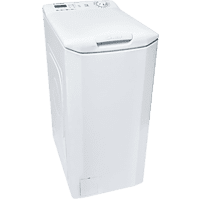 Lavadora carga superior - Candy CST 06LE/1-S, 6 kg, 1000 rpm, NFC, Display LED táctil, 40 cm ancho, Blanco