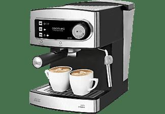 Cafetera express - Cecotec Power Espresso 20, 850 W, 20 bares, 1.5 L, Plata y negro