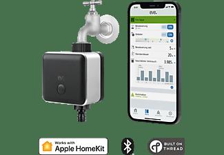 EVE Aqua - automatisch bewässern mit Zeitplänen, Fernzugriff, keine Bridge, keine Bridge, Bluetooth, Thread Smarte Bewässerungssteuerung Schwarz/Metallic
