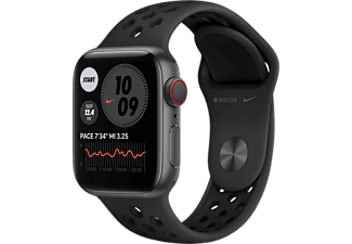 APPLE Watch Series 6 Nike GPS + Cellular 40mm Aluminiumboett i Rymdgrå - Sportband i Platinum/Svart
