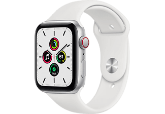 APPLE Watch SE GPS + Cellular 44mm Aluminiumboett i Silver - Sportband i Vitt