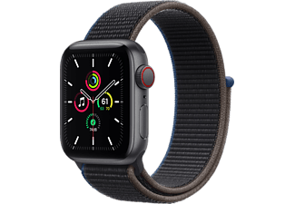 APPLE Watch SE GPS + Cellular 40mm Aluminiumboett i Rymdgrå - Charcoal Sportloop