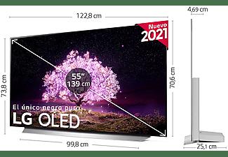 """TV OLED 55"""" - LG OLED55C15LA.AEU, UHD 4K, α9 Gen4, webOS 6.0, Smart TV, Asistentes de voz, Dolby Atmos, Blanco"""