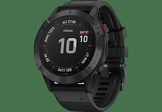 Reloj deportivo - Garmin Fenix 6 Pro, Negro, GPS, Sensores ABC, Aplicaciones deportivas, Negro