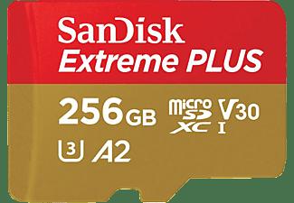 SANDISK Extreme Plus, Micro-SDXC Speicherkarte, 256 GB, 170 MB/s