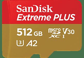 SANDISK Extreme Plus, Micro-SDXC Speicherkarte, 512 GB, 170 MB/s