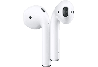 Auriculares inalámbricos - Apple AirPods 2, Bluetooth, Chip H1, Siri + Estuche de carga inalámbrico
