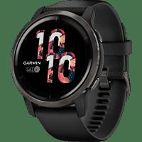GARMIN Smartwatch Venu 2 45mm, Schwarz/Schiefergrau (010-02430-11)
