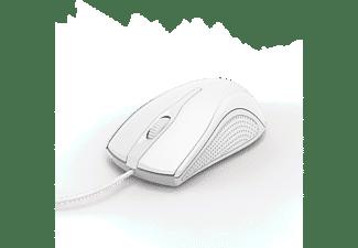 HAMA Maus MC-200, USB, 1000dpi, 3-Tasten, Weiß