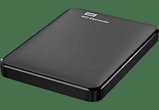 Disco duro externo 1.5 TB - WD Elements, USB 3.0, Portátil, Con formato NTFS para Windows 10, Negro