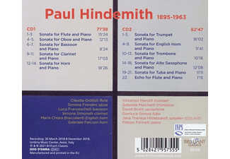 VARIOUS - Hindemith:Complete Sonatas For Wind Instruments  - (CD)