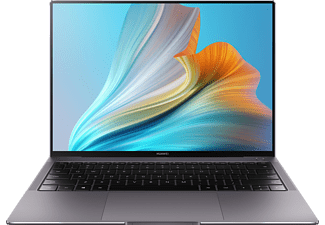 HUAWEI Matebook X Pro 2021, Notebook mit 13,9 Zoll Display Touchscreen, Intel® Core™ i5 Prozessor, 16 GB RAM, 512 GB SSD, Intel® Iris® Xe Graphics, Space Gray
