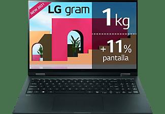 "Portátil - LG Gram 16Z90P-G.AA78B, 16"" WQXGA, Intel® Evo™ Core™ i7-1165G7, 16GB RAM, 512GB SSD, Iris® Xe, W10"