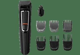 Afeitadora - Philips S3000 MG3730/15, Barba y cortapelos, 8 en 1, 60 min, Seco y húmedo, Negro