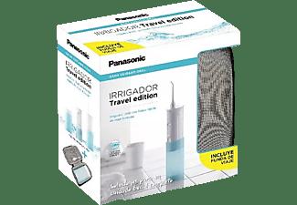 Irrigador - Panasonic EW-DJ10 Travel, Plegable, 590 kPa, 2 niveles de intensidad, Aguamarina