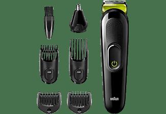 Afeitadora - Braun MGK3221, 6 en 1, Recortadora De Barba, Cortapelos, Recortadora Facial, Para Nariz y Orejas