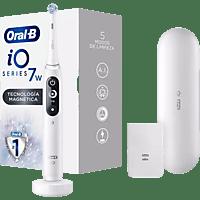 Cepillo Eléctrico - Oral-B, iO 7w Recargable Con Tecnología De Braun, 1 Mango Blanco Con Diseño De Alta Gama