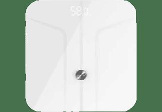 Báscula de baño - Cecotec Surface Precision 9700 Smart Healthy, Hasta 180 kg, Bluetooth, Vidrio, Blanco