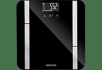 Báscula de baño - Cecotec Surface Precision 9450 Full Healthy, 180 kg, LCD, 10 Memorias, Cristal, Negro