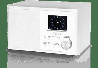 PEAQ PDR 170BT-W DAB+ Radio, DAB+, DAB, FM, Bluetooth, Weiß