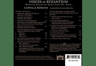 Alexander/cappella Romana Lingas - Voices of Byzantinum  - (CD)