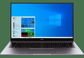HUAWEI MateBook D 16, Notebook mit 16,1 Zoll Display, 16 GB RAM, 512 GB SSD, AMD Radeon Grafik, Space Gray