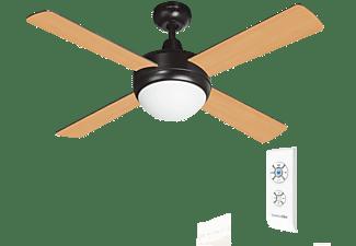 Ventilador de techo - UniversalBlue UVT1302-20, 60 W, 2 in 1 SoulFan+Light, Easy Winter System, 106 cm, Marrón