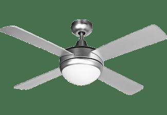 Ventilador de techo - UniversalBlue UVT1304-20, 60 W, 2 in 1 SoulFan+Light, Easy Winter System, 106 cm, Plata