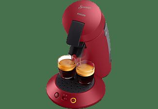 Cafetera de cápsulas - Philips Senseo Original Plus CSA210/91, 220 - 240 V, 0.7 l, Función 2 tazas, Rojo