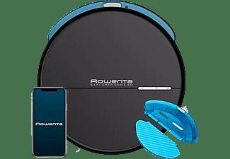 Robot aspirador - Rowenta RR7455WH Explorer serie 60 Animal Care + Connect 0.4 l, 90 min, 65, Negro