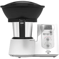 Robot de cocina - Taurus Mycook One con vaporera, 2 L, 1.600W, Función sofreír, Blanco