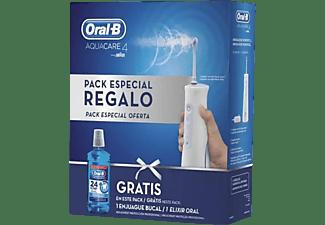 Irrigador - ORAL-B Pack AquaCare 4 + Regalo Colutorio, Blanco