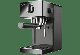 Cafetera express - Solac CE4502 Squissita Easy Graphite, 20 bar, 1050W, 1.5L, 2 tazas, Double Cream, Negro