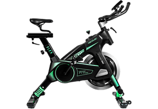 Bicicleta estática - Cecotec Ultraflex 25, Pantalla LCD, Pulsómetro, Silence Fit System, Negro