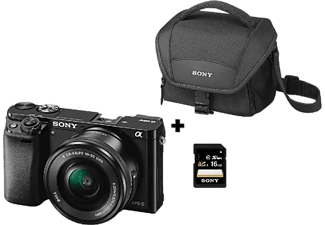 Pack Cámara EVIL - Sony A6000, 24.3 MP, Full HD, WiFi, Negro + E PZ 16-50 mm f/3.5-5.6 OSS
