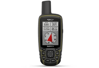 "GPS - Garmin GPS Map 65, 2.6"", Quadrifilar Helix, GNSS, USB, Negro"