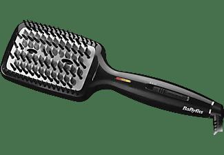 Cepillo alisador - Babyliss Liss Brush 3D HSB101E, Doble generador de iones, 3 tipos de púas, Negro