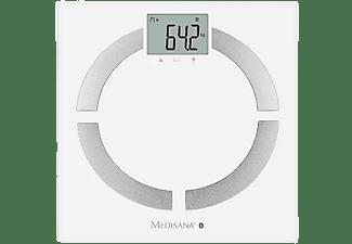 Báscula de baño - Medisana BS444 Connect, Peso máximo 180 Kg, Análisis corporal, Bluetooth