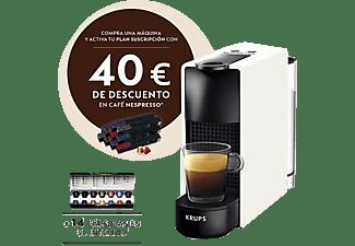 Cafetera de cápsulas - Nespresso® Krups XN1101 Essenza Mini, 19 bares, Blanco