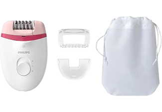 Depiladora eléctrica - Philips Satinelle Essential BRE255/00, 2 ajustes velocidad, Luz exclusiva
