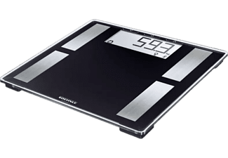 Báscula de baño - Soehnle Shape Connect 50, Hasta 180 kg, Soenhle Connect-App, Plástico, Negro