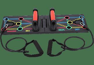 Tabla para ejercicio - NK PUSHBOARD, Tabla push up, 64 x 20 cm, Diseño plegable, 200 Kg, Multicolor