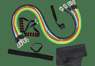 Set gomas para ejercicio - NK TUBESET, Resistencias de hasta 45 kg, Multicolor
