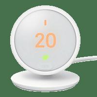 Termostato - Google Nest Termostat E HF001235-IT, LCD, Wi-Fi, App Nest, Blanco, domótica