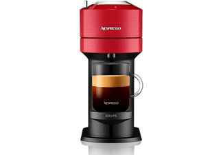 Cafetera de cápsulas - Krups Vertuo XN9105, 1500 W, 1.1 l, Wi-Fi, Bluetooth, Rojo