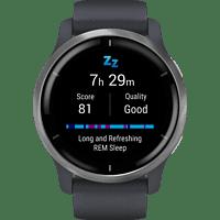 GARMIN Garmin Venu 2 Smartwatch Polymer Silikon, 135-200 mm, Granitblau