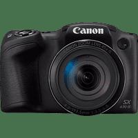 Cámara bridge - Canon Powershot SX430 IS, 20 MP, Zoom óptico x45, 24-1080 mm, Vídeo HD, Wi-Fi, NFC, Negro