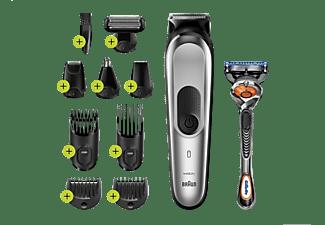 Afeitadora - Braun MGK7220, Barba, cuerpo y cabello, 10 en 1, 100 min, Cuchillas de metal, Inox/Negro