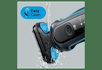 Afeitadora - Braun, Series 5 50-B1000s, Afeitadora Eléctrica Hombre De Lámina, Uso En Seco Y Mojado, Azul