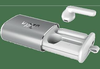 Auriculares Bluetooth - Vieta Pro True Wireless Done Plus MK008, Micrófono, Control Táctil, Blanco